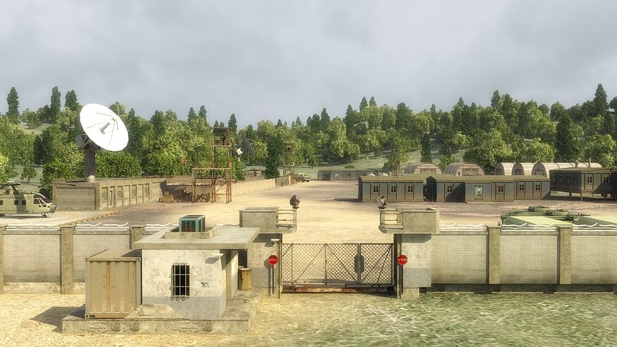Camp militaire royalty-free 3d model - Preview no. 5
