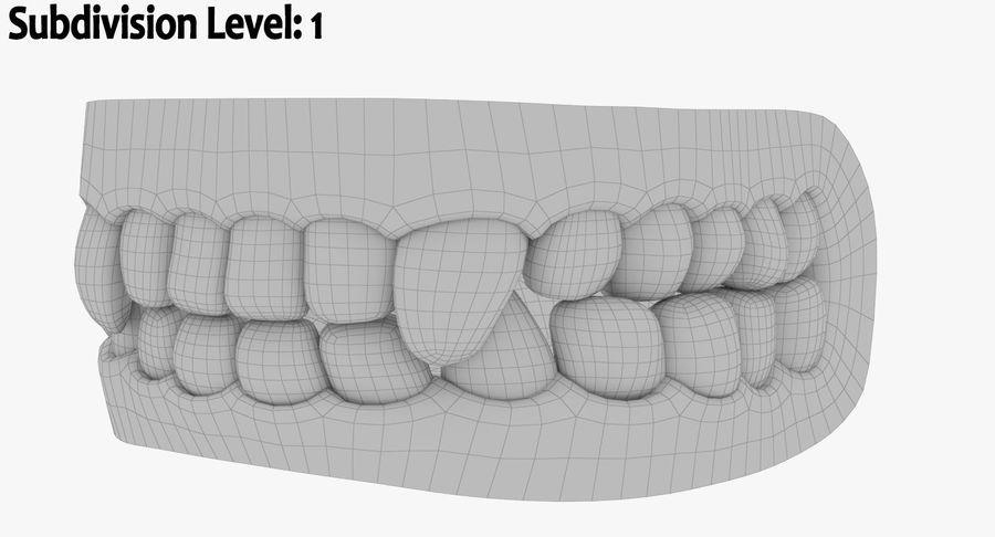 牙齿和牙龈和舌头 royalty-free 3d model - Preview no. 14