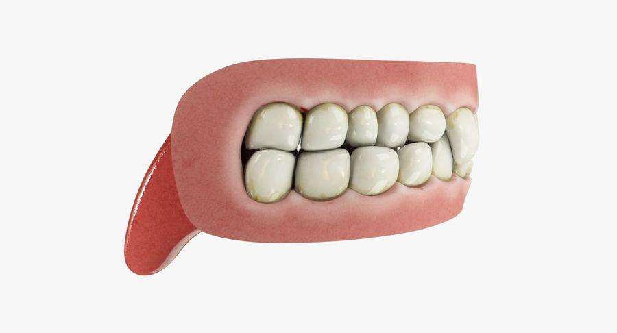 牙齿和牙龈和舌头 royalty-free 3d model - Preview no. 10