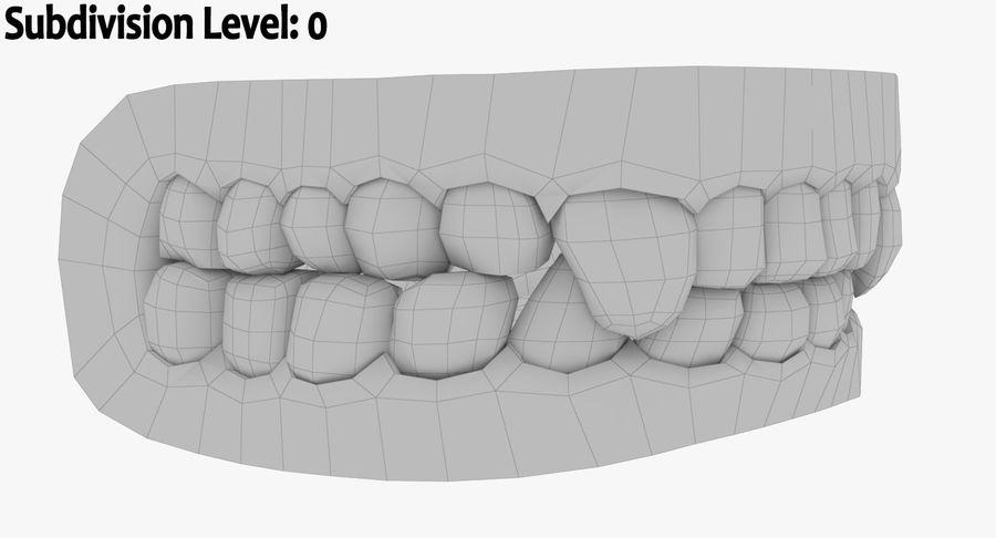 牙齿和牙龈和舌头 royalty-free 3d model - Preview no. 15