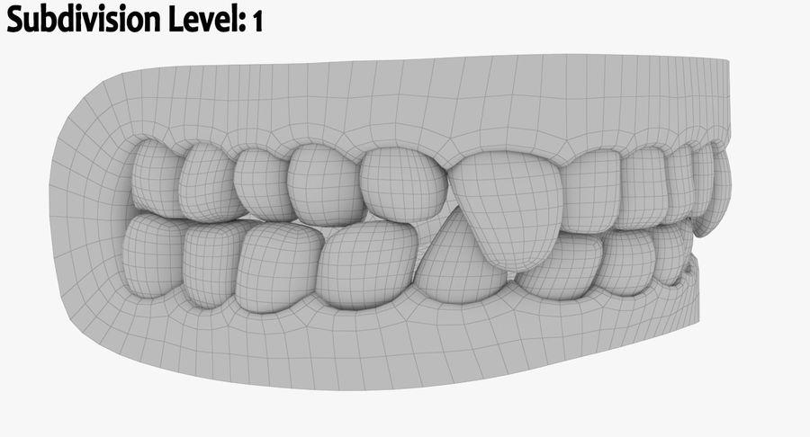 牙齿和牙龈和舌头 royalty-free 3d model - Preview no. 16