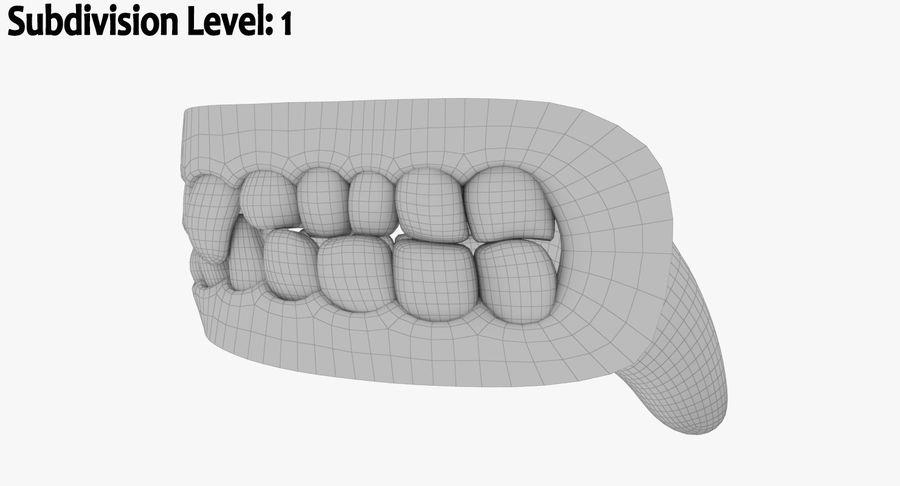 牙齿和牙龈和舌头 royalty-free 3d model - Preview no. 18