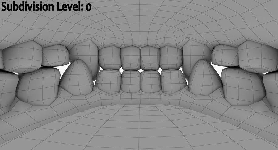 牙齿和牙龈和舌头 royalty-free 3d model - Preview no. 19