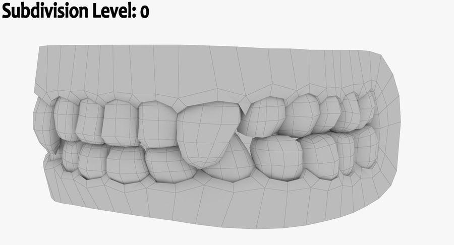 牙齿和牙龈和舌头 royalty-free 3d model - Preview no. 13