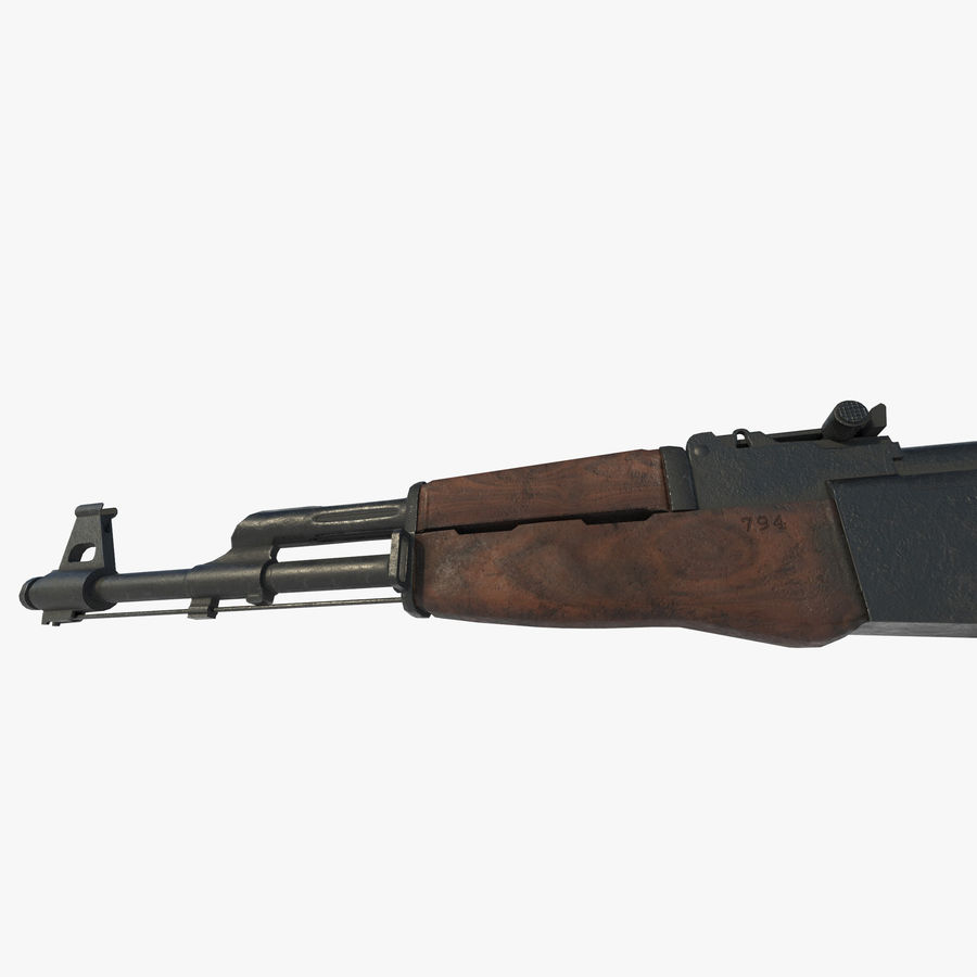Assalto AK 47 royalty-free 3d model - Preview no. 6
