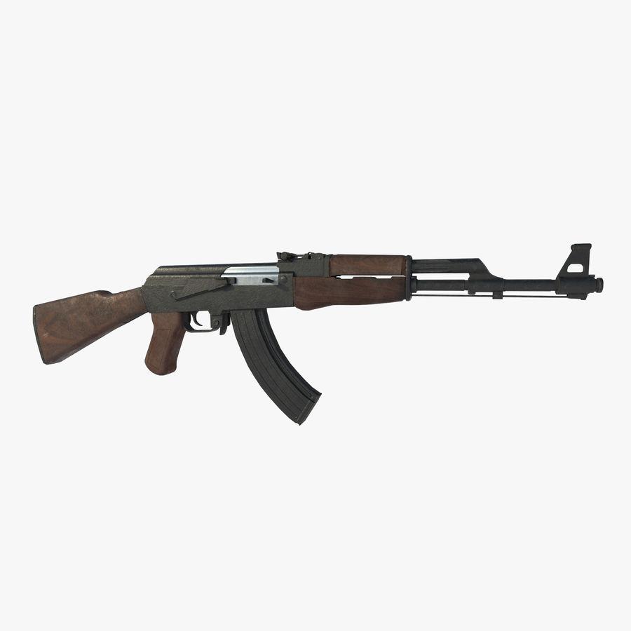 Assalto AK 47 royalty-free 3d model - Preview no. 2