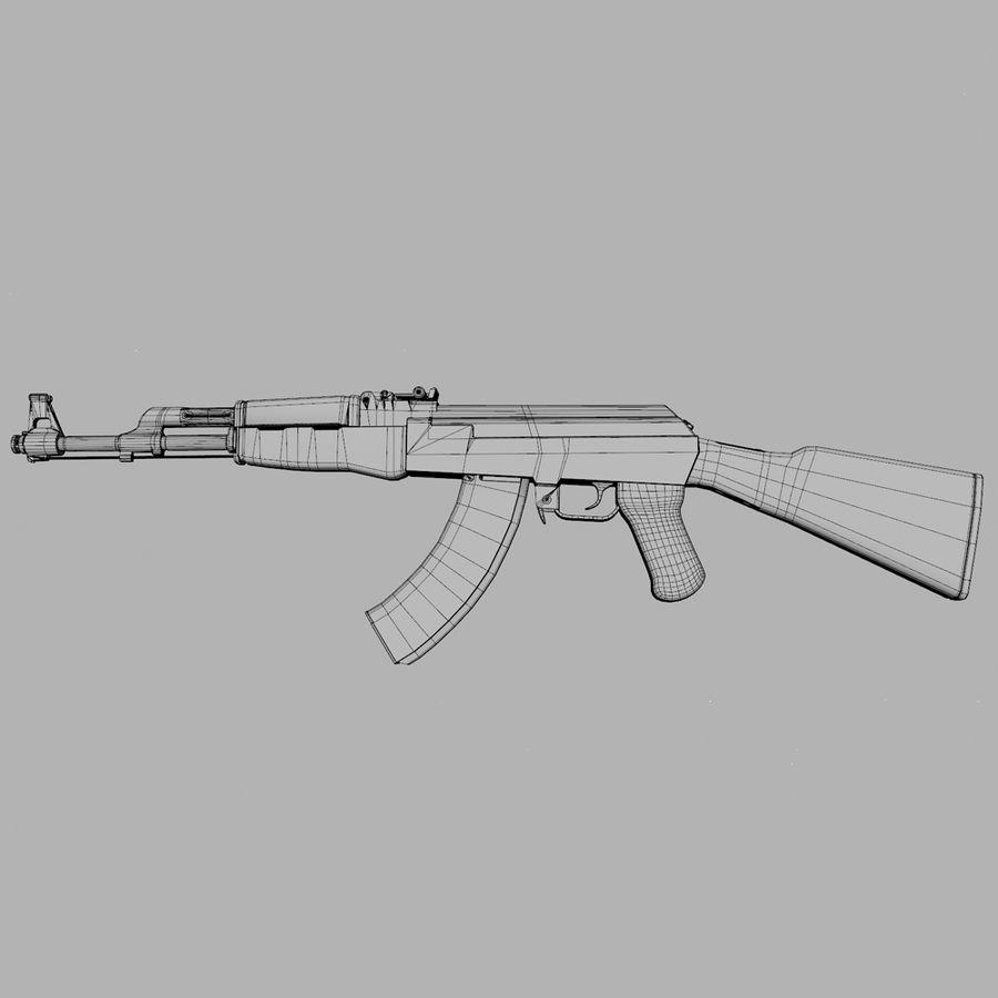 Assalto AK 47 royalty-free 3d model - Preview no. 9