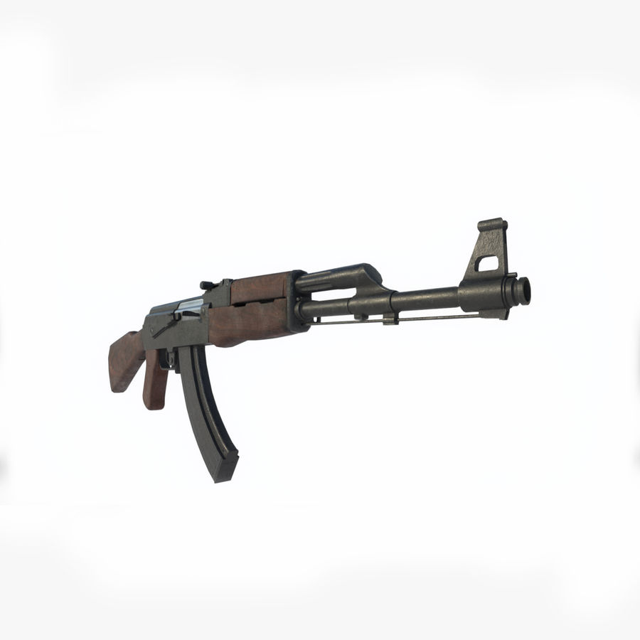 Assalto AK 47 royalty-free 3d model - Preview no. 7