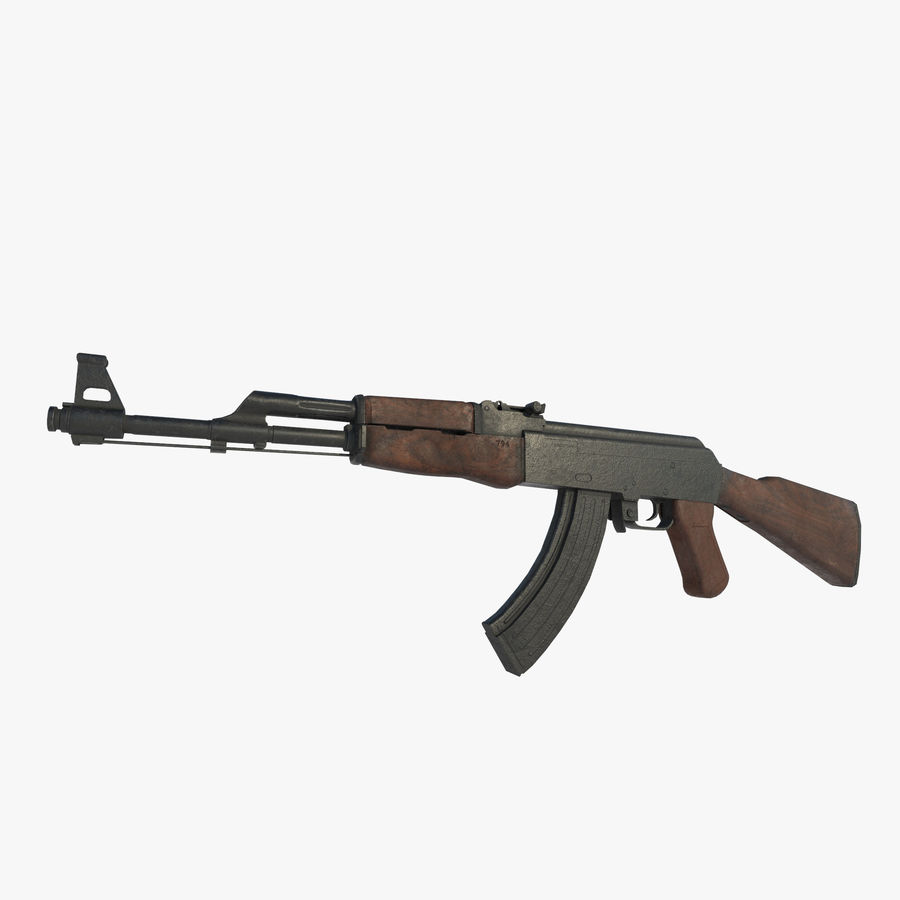 Aanval AK 47 royalty-free 3d model - Preview no. 1
