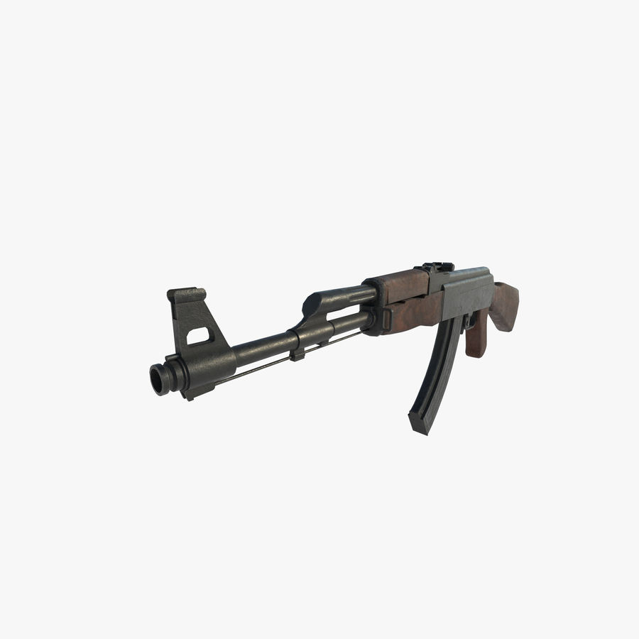 Aanval AK 47 royalty-free 3d model - Preview no. 5