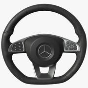 Stuurwiel Mercedes C300 2017 3d model