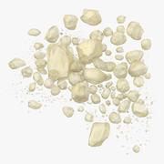 Loose Pile of Crystal Meth 01 3d model