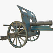 ww1 Cannon(1) 3d model