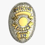 Badge de détective 01 3d model