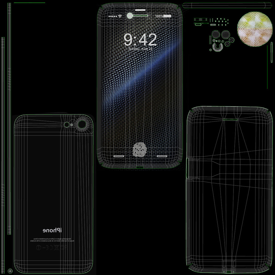 Apple iPhone-koncept royalty-free 3d model - Preview no. 14