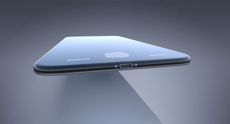 Apple iPhone-koncept royalty-free 3d model - Preview no. 9