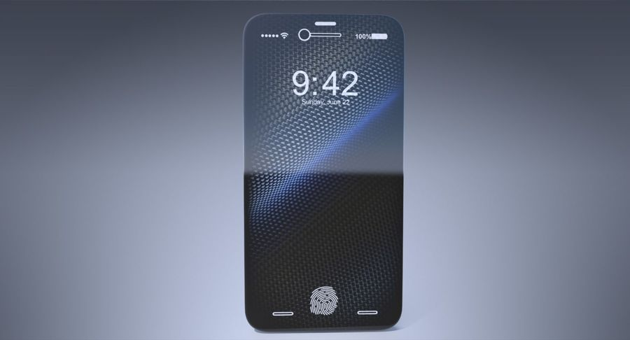 Apple iPhone Concept royalty-free 3d model - Preview no. 4