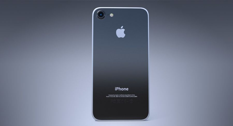 Apple iPhone Concept royalty-free 3d model - Preview no. 5