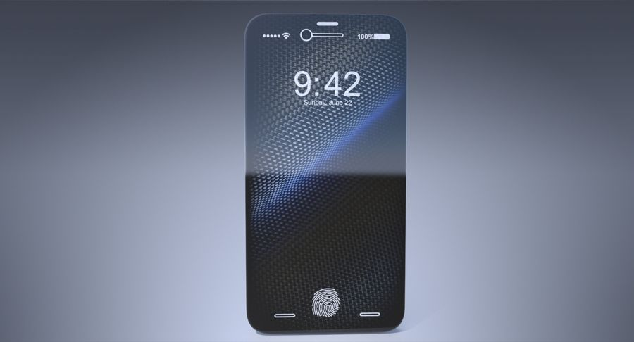 Apple iPhone-koncept royalty-free 3d model - Preview no. 4