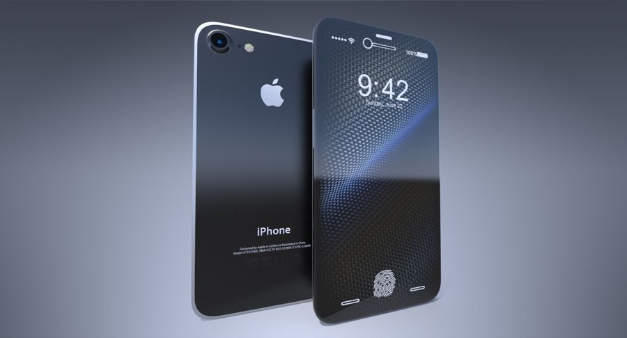 Apple iPhone-koncept royalty-free 3d model - Preview no. 3