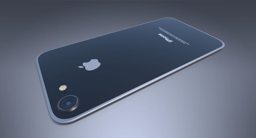Apple iPhone-koncept royalty-free 3d model - Preview no. 8