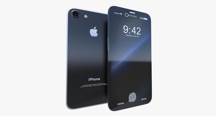 Apple iPhone-koncept royalty-free 3d model - Preview no. 2