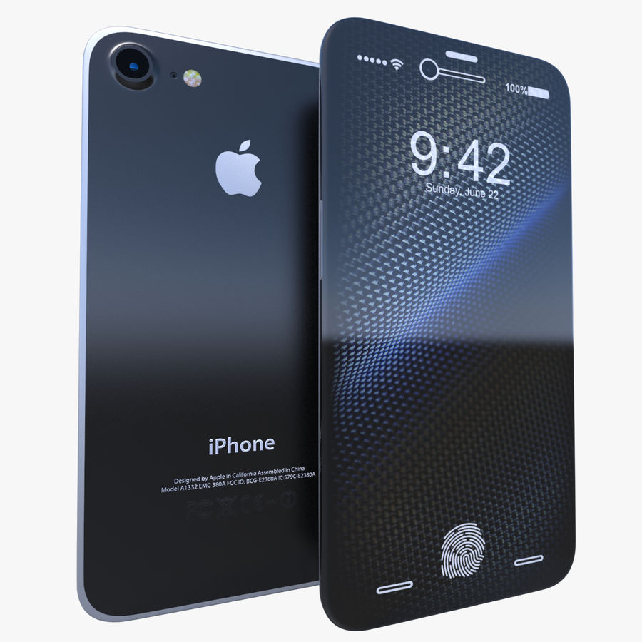 Apple iPhone Concept royalty-free 3d model - Preview no. 1