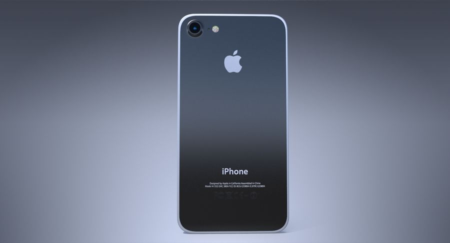 Apple iPhone-koncept royalty-free 3d model - Preview no. 5