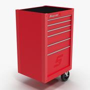Extrémité de rangement d'outils rouge 3d model