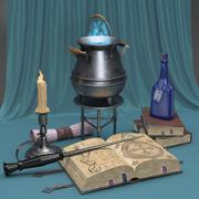 Magiczna martwa natura 3d model