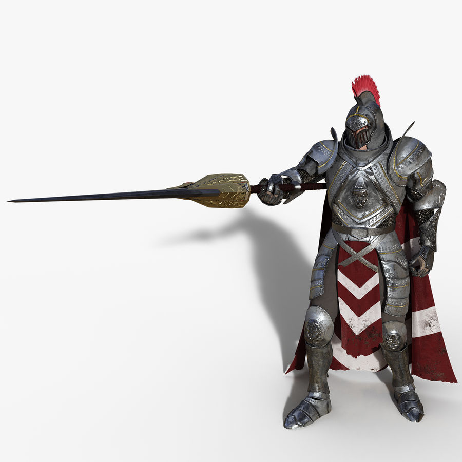 Knight royalty-free 3d model - Preview no. 7