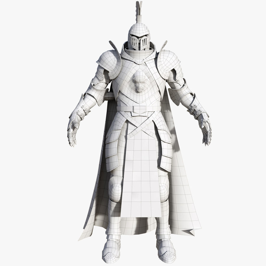 Knight royalty-free 3d model - Preview no. 11
