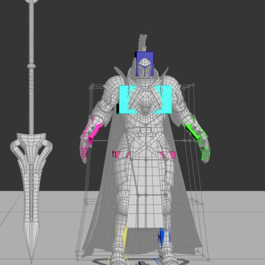 Knight royalty-free 3d model - Preview no. 21