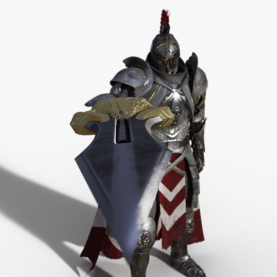 Knight royalty-free 3d model - Preview no. 6
