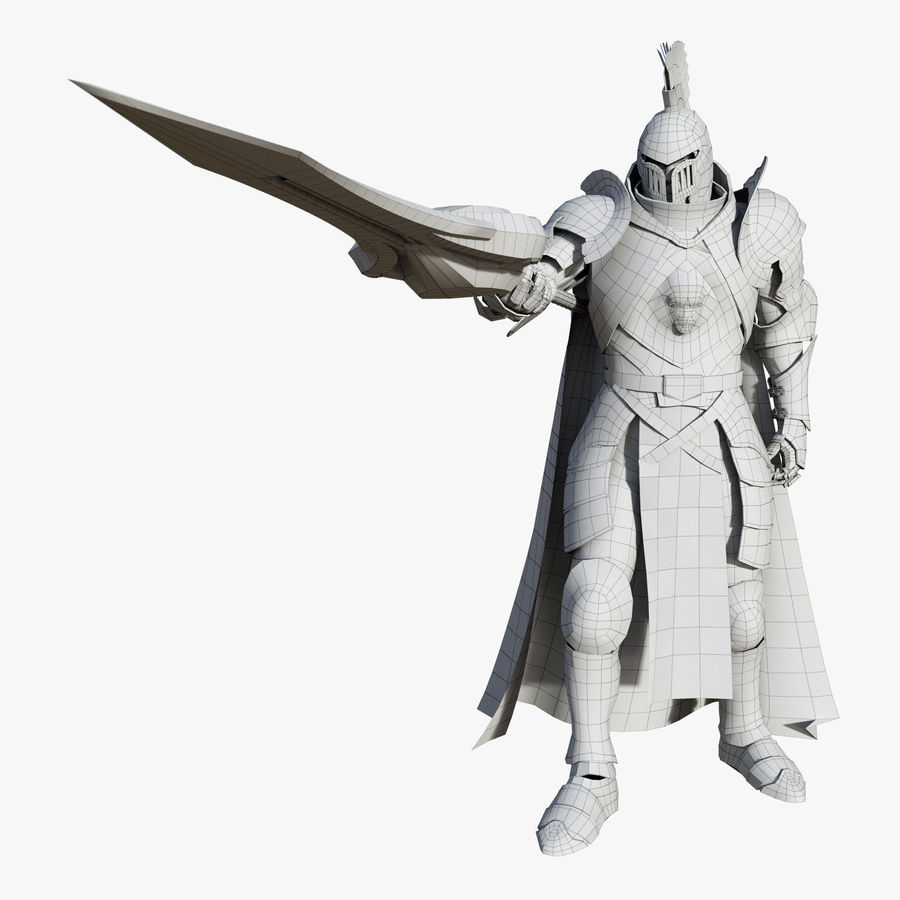 Knight royalty-free 3d model - Preview no. 19