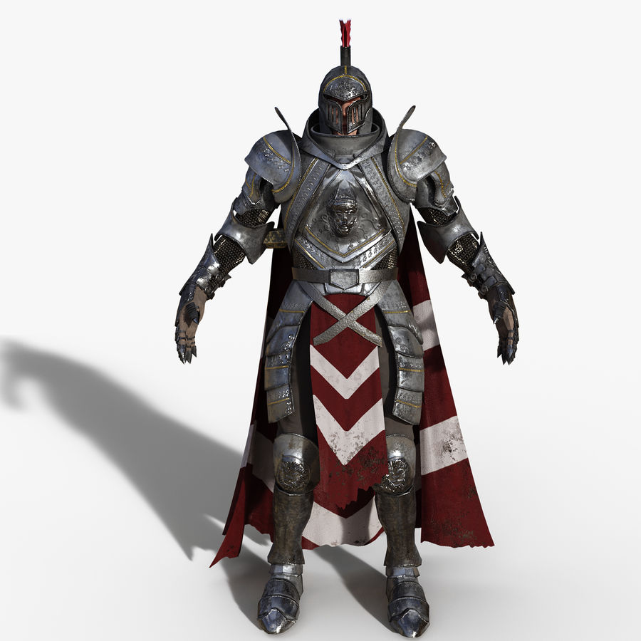 Knight royalty-free 3d model - Preview no. 8