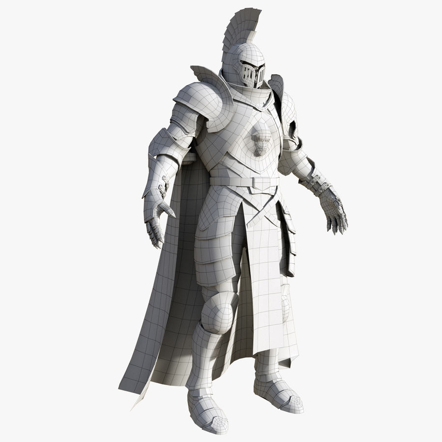 Knight royalty-free 3d model - Preview no. 10