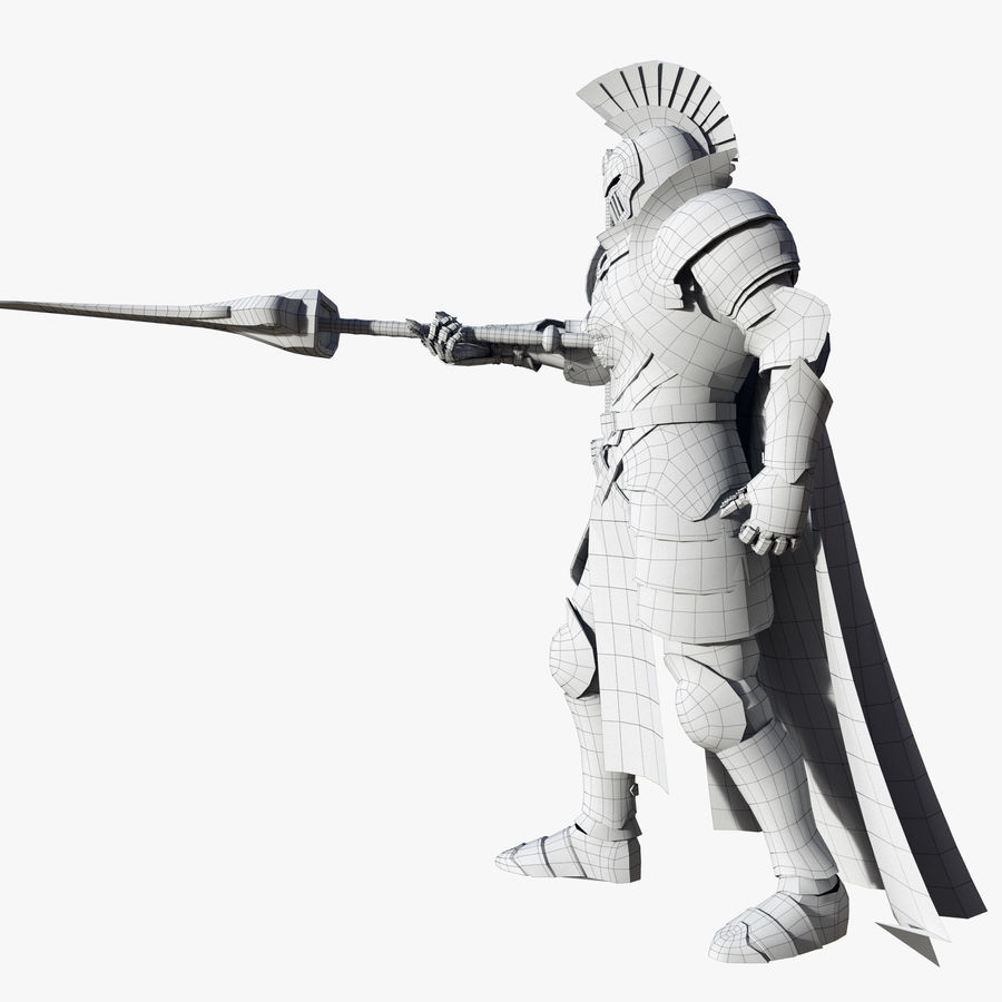 Knight royalty-free 3d model - Preview no. 20
