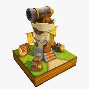 Torre de canhão 3d model