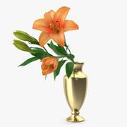 Bouquet with Orange Lilies 3d model