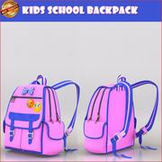 学校背包 3d model