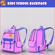School rugzak 3d model