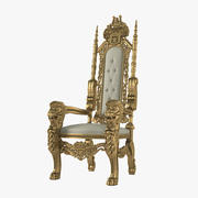 Lion King Throne Chair 3d model