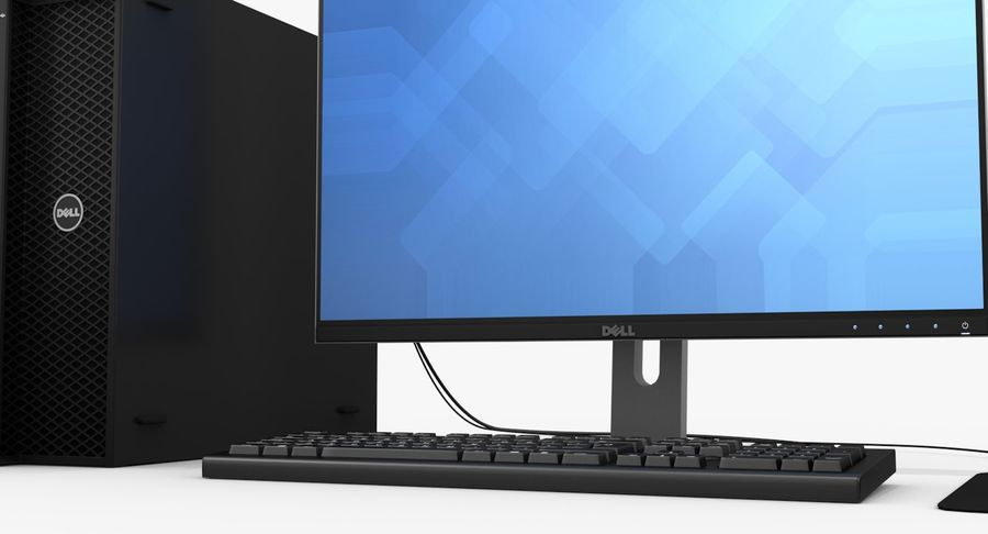 Dell Workstation royalty-free 3d model - Preview no. 8