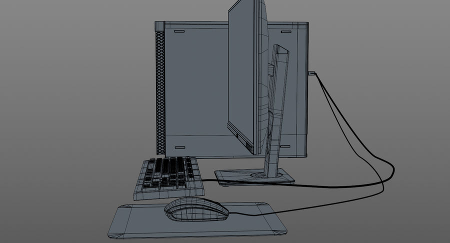 Dell werkstation royalty-free 3d model - Preview no. 19