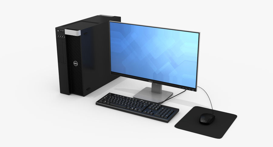 Dell werkstation royalty-free 3d model - Preview no. 2