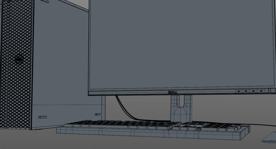 Dell werkstation royalty-free 3d model - Preview no. 17