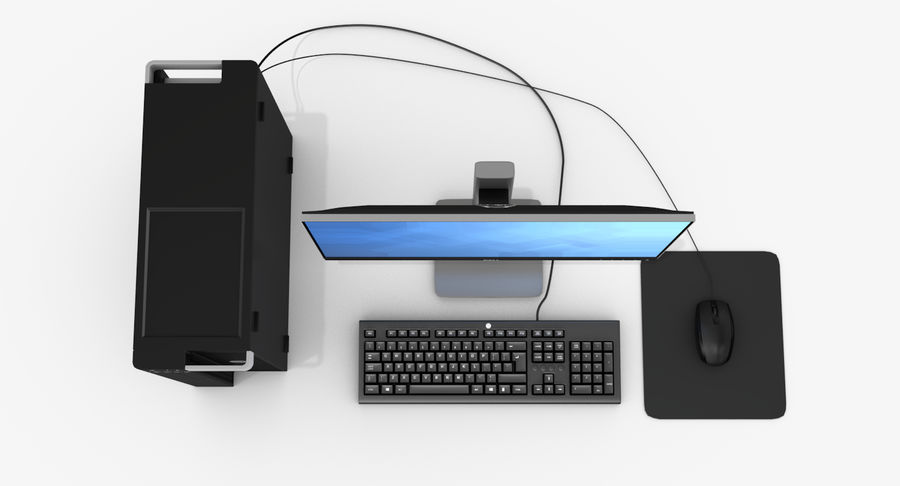 Dell werkstation royalty-free 3d model - Preview no. 6