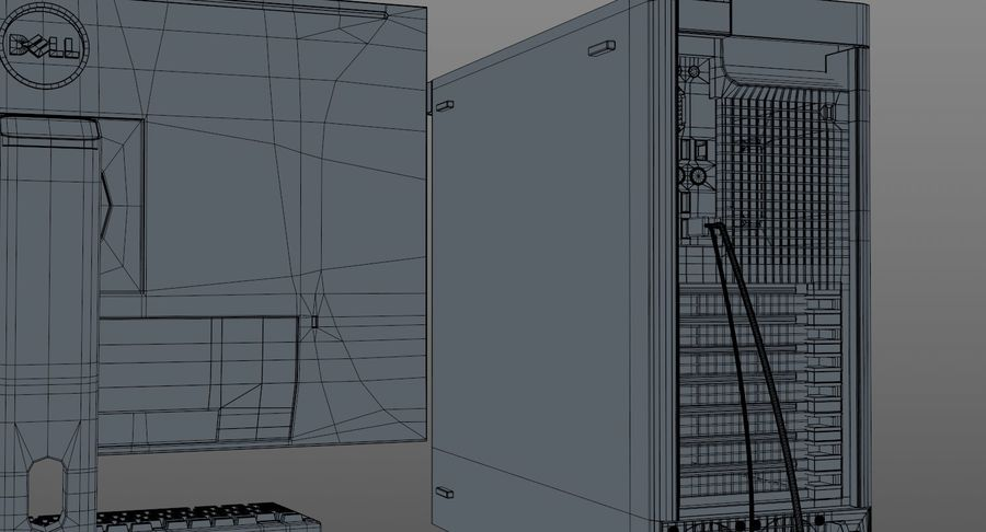 Dell Workstation royalty-free 3d model - Preview no. 18