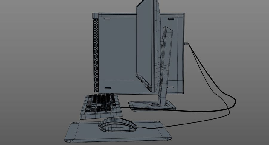 Dell Workstation royalty-free 3d model - Preview no. 19